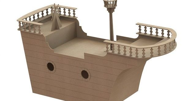 Boat table 6mm + 9mm cdr dxf