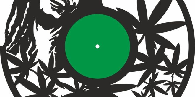 Laser Cut Vinyl Bob Marley Wall Clock CDR