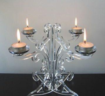 Free Candle holder dxf cnc cut