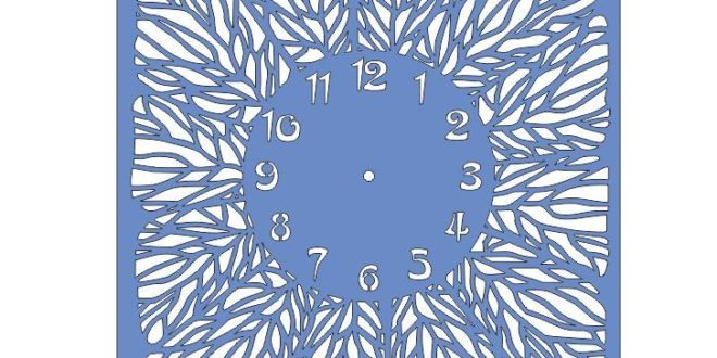 Cnc Project Cut File Square Floral Wall Clock DXF
