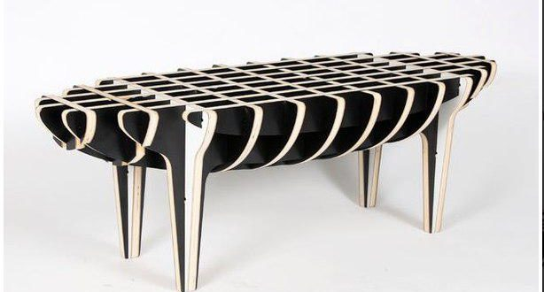 Parametric CNC Router Coffee Table DXF File