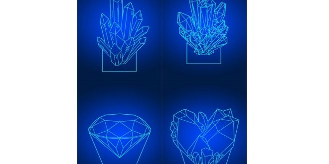 Free Laser 3d illusion acrylic night lamp crystal shaped lamp layout dxf cdr