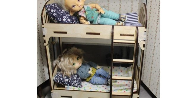FREE Laser Cut Template Doll House Cradle