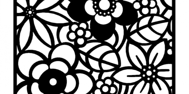 Floral Wall Laser Cut Cnc Cutting Vector DXF