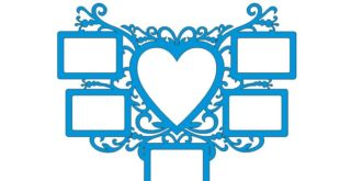 Heart Picture Frame DXF CNC Template