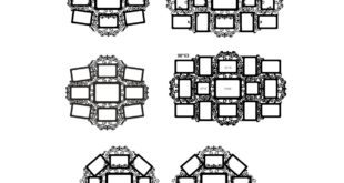 Pack 6 Floral Laser Cut Frames CDR DXF