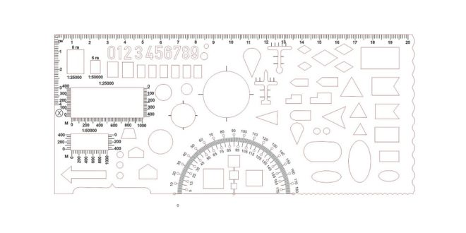 Free Vector Geometric Ruler School Laser Cut Engrave