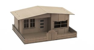 House dxf cdr laser cut vector