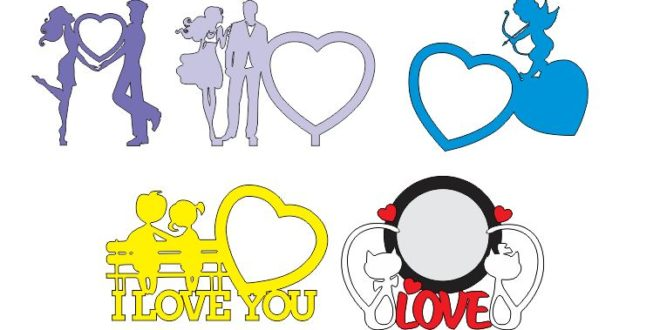 Free pack i love you CDR DXF Vectors Cut Cnc Machines