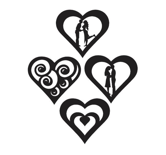 Free File Cnc Heart Couple In Love Silhouette Download Valentine S Day Dxf Downloads Files For Laser Cutting And Cnc Router Artcam Dxf Vectric Aspire Vcarve Mdf Crafts Woodworking