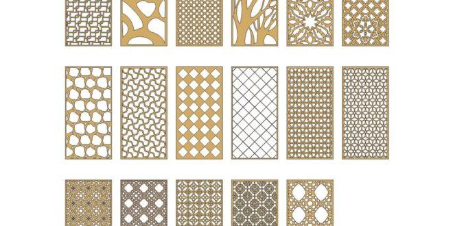 Vectors Cnc Design for Partition Grid Panels Pack