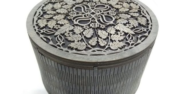 File Vector Round box for laser cutting