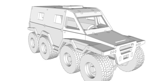 Laser Cut Project Plan Car Suv 3mm War Armoured (with instructions in pdf)