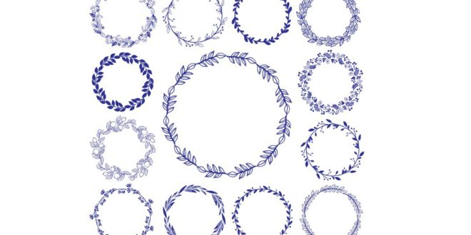 Free Vector Laser Engraving Circle Round Frame CDR
