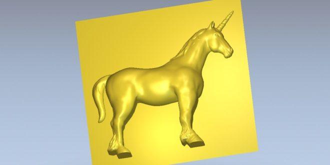 Unicorn 3D Cnc Model STL 1324