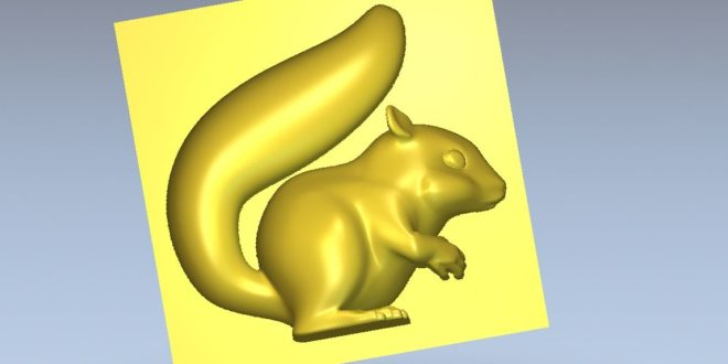Squirrel 3D Cnc Model STL Relief 1325