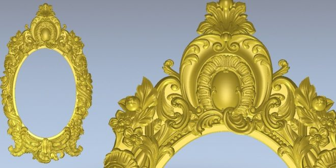 Classic 3D Cnc File Relief Old style frame STL Relief Decor 1336