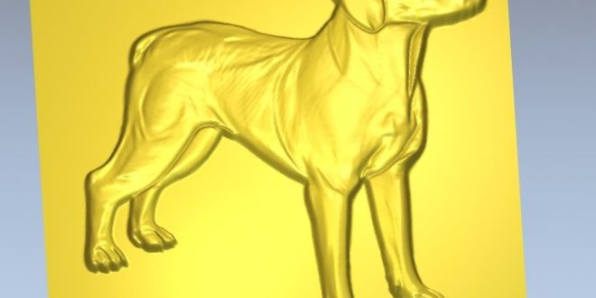 Free Dog Relief 3D Cnc  File STL 1341