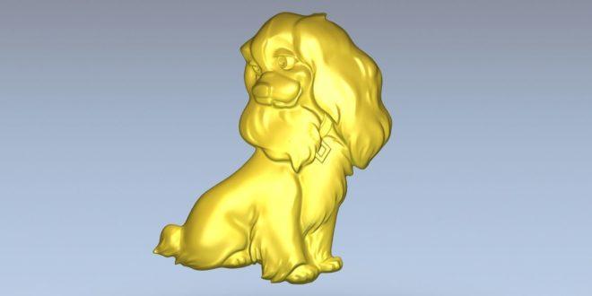 Cnc Relief Lady Dog Disney Cnc File 1348