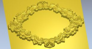 Free Roses Flowers Frame Decor STL 1351