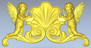Angels Decor Relief Religious 3D Print Cnc Router 1354