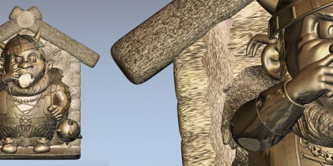 3D Relief Model to Cnc Machines File 1358