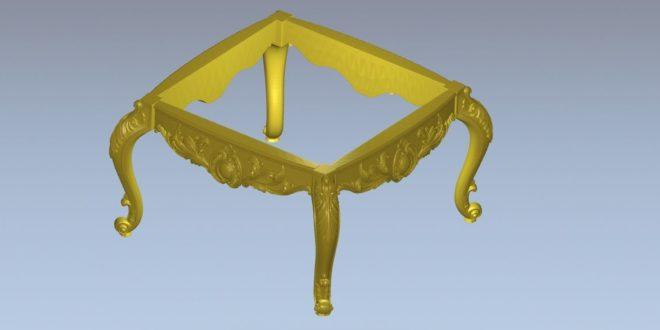 Center Table Furniture 3D Files Model STL Parts 1360