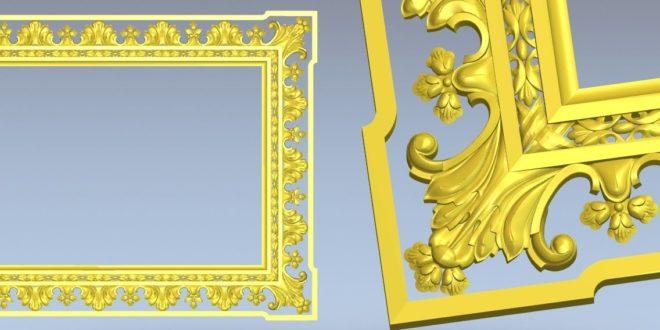 Free Relief Frame 3D Decor STL 1361