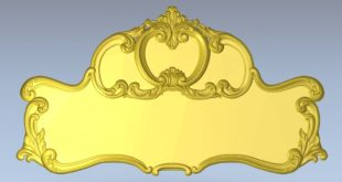 Plate Decor Headboard 3D Cnc Router STL 1362