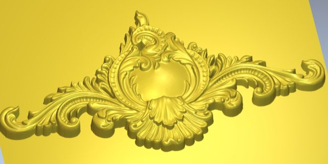Free 3D Relief Decoration Floral Pattern STL 1366