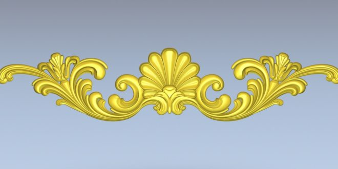 Floral Pattern Decor Cnc Relief File 1368