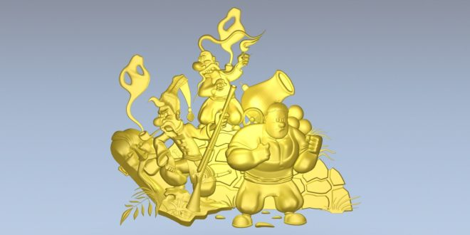 Cartoon Relief to Cnc Router 3D Print STL 1369