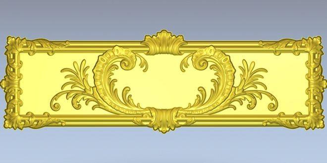 Free panel floral decor plate stl 1370