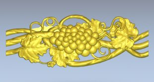 Free 3d cnc relief grapes decor stl 1377