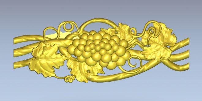 Free 3d cnc relief grapes decor stl 1377