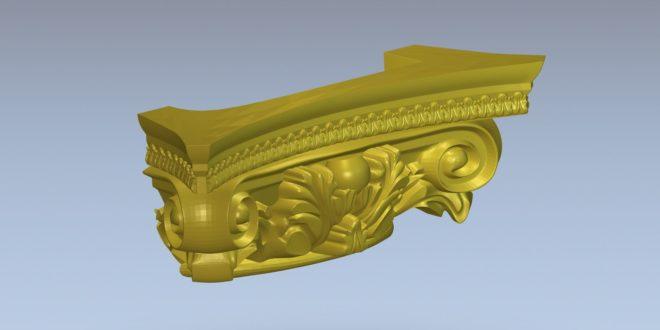 Free Cnc File 3D Model column decoration 1378