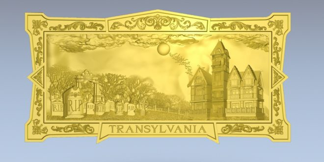 Free 3D Panel Photo Transylvania cemetery STL 1379