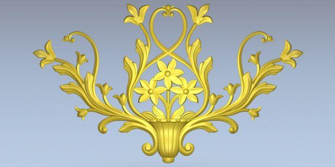Flower Relief Vase 3D stl File 1380