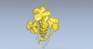 Free Relief 3D Grapes Plant leaf STL 1386