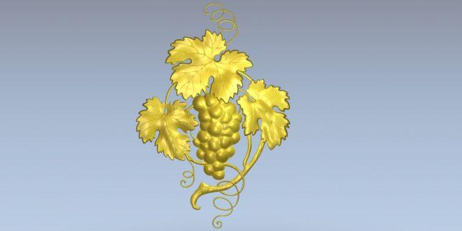 Free Relief 3D Grapes Plant leaf STL 1386