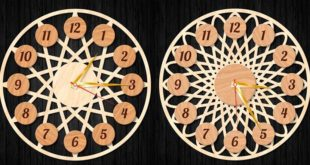 Free clock laser cut vector wall watches
