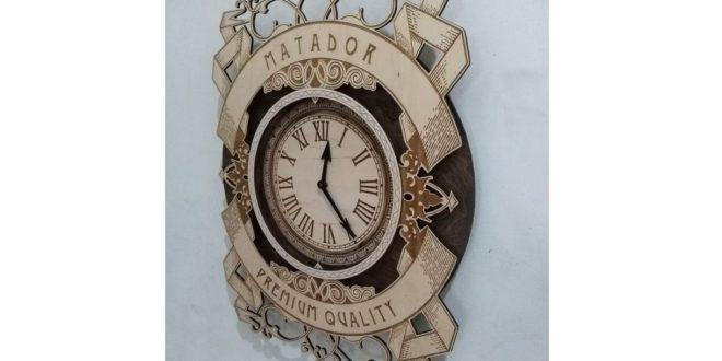 Free Laser Cut And Engraving Matador Clock Watche Wall