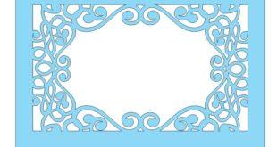 Free laser cut frame dxf panel floral