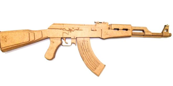 Free cnc cut file Ak 47 machine gun weapon
