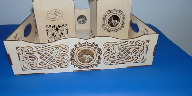 Free laser cut decorative trays box