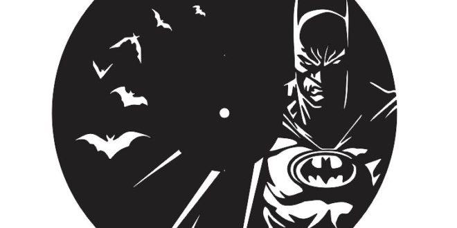 Batman Laser Cut Clock Vinyl Wall