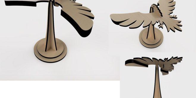 Laser Cut Bird Balance Equilibrium DXF CDR