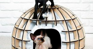 6mm Laser Cut Cat Bed House Indoor Unique Modern Dog Cat Cave Luxury Designer Furniture