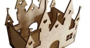 Laser Cut Castle Decoration CDR DXF