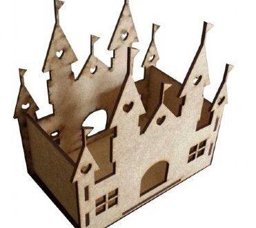 Laser Cut Castle Decoration CDR DXF